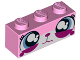 Part No: 3622pb060  Name: Brick 1 x 3 with Cat Face Wide Eyes Watering (Sad Unikitty) Pattern