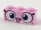 Part No: 3622pb087  Name: Brick 1 x 3 with Cat Face Wide Eyes and Smiling Open Mouth with One Tooth Pattern