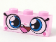 Part No: 3622pb090  Name: Brick 1 x 3 with Cat Face Wide Eyes and Smiling Wide Open Mouth with One Tooth Pattern