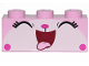 Part No: 3622pb103  Name: Brick 1 x 3 with Cat Face Wide Open Mouth Smile with Tongue Out Pattern