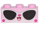 Part No: 3622pb104  Name: Brick 1 x 3 with Cat Face and Sunglasses Pattern (Disco Kitty)