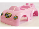 Part No: 36744pb01  Name: Duplo Car Body with 2 Studs on Back and Small Windshield with Heart Headlights and Grille Pattern