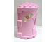 Part No: 52024pb01  Name: Duplo Building Wall 4 x 6 x 6 Curved Turret - Castle with Yellow and Pink Flowers Pattern on Both Sides (Stickers) - Set 4828