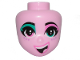 Part No: 65681  Name: Mini Doll, Head Friends with Left Eye Turquoise, Right Eye Pink, Freckles and Cheerful Pattern (Sweet Mayhem)