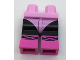Part No: 970c11pb32  Name: Minifigure, Legs with Hips - Black Legs with Bright Pink Leotard and Dark Pink Ballet Slippers Pattern