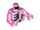 Part No: 973pb2144c01  Name: Torso Pixelated Zombie Pigman Pattern / Bright Pink Arms / Bright Pink Hands