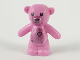 Part No: 98382pb010  Name: Teddy Bear with Black Eyes, Metal Pink Muzzle and Belly, Black Stitches and Heart Pattern