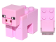Part No: minepig03  Name: Minecraft Pig with 2 x 2 Plate