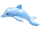 Part No: 13392pb01  Name: Dolphin, Friends / Elves, Jumping with Bottom Axle Holder with Medium Azure Eyes with Eyelashes Pattern