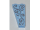 Part No: 2449pb006  Name: Slope, Inverted 75 2 x 1 x 3 with Stars and Swirls Pattern on Both Sides