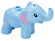 Part No: 67410pb01  Name: Elephant, Friends, Baby with Bright Pink Ears Pattern