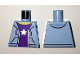 Part No: 973pb2344  Name: Torso Hooded Sweatshirt Open with Purple Shirt with Silver Star Pattern