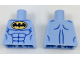 Part No: 973pb2890  Name: Torso Batman Logo in Yellow Oval with Blue Muscles Pattern