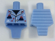 Part No: 98127pb02  Name: Torso, Modified Short with Ridged Armor with Volcano Pajamas Pattern