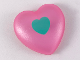 Part No: 48342pb01  Name: Clikits Icon, Heart Giant with Pin with Sand Green Heart Pattern