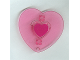 Part No: 48354pb01  Name: Clikits, Icon Heart with Two Pins, Picture Holder, Purple Heart Center Pattern
