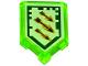 Part No: 22385pb023  Name: Tile, Modified 2 x 3 Pentagonal with Nexo Power Shield Pattern - Arrow Strike