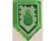 Part No: 22385pb034  Name: Tile, Modified 2 x 3 Pentagonal with Nexo Power Shield Pattern - Slime Blast