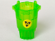 Part No: 87826pb01  Name: Hero Factory Container Bucket with Meltdown Logo on Yellow Background Pattern (Sticker) - Set 7148