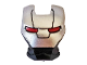 Part No: 10908pb15  Name: Minifigure, Visor Top Hinge with Silver Face Shield, Red Eyes, Black Trapezoid Pattern