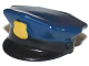 Part No: 11259pb01  Name: Minifigure, Headgear Hat, Police with Dark Blue Top and Gold Badge (molded and printed) Pattern