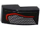 Part No: 11477pb028L  Name: Slope, Curved 2 x 1 with Taillight with Hexagonal Mesh Pattern Model Left Side (Sticker) - Set 75909