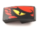 Part No: 11477pb058R  Name: Slope, Curved 2 x 1 No Studs with Dragon Eye Pattern Right (70653)
