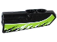 Part No: 11946pb007  Name: Technic, Panel Fairing #21 Very Small Smooth, Side B with Black and White Splatters on Lime Background Pattern (Sticker) - Set 42021
