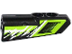 Part No: 11946pb008  Name: Technic, Panel Fairing #21 Very Small Smooth, Side B with Air Intake and Black and White Splatters Pattern (Sticker) - Set 42021