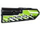 Part No: 11946pb009  Name: Technic, Panel Fairing #21 Very Small Smooth, Side B with 'SNOWMOBILE' and Black and White Splatters Pattern (Sticker) - Set 42021