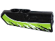Part No: 11947pb007  Name: Technic, Panel Fairing #22 Very Small Smooth, Side A with Black and White Splatters on Lime Background Pattern (Sticker) - Set 42021
