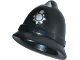 Part No: 13789pb01  Name: Minifigure, Headgear Police Helmet with Silver Badge Pattern