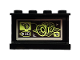 Part No: 14718pb026  Name: Panel 1 x 4 x 2 with Side Supports - Hollow Studs with 3D Model Pattern on Inside (Sticker) - Set 70418