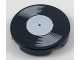 Part No: 14769pb208  Name: Tile, Round 2 x 2 with Bottom Stud Holder with Vinyl Record with White Label Pattern