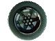 Part No: 15038c02  Name: Wheel 56mm D. x 34mm Technic Racing Medium, 6 Pin Holes with Black Tire 81.6 x 36 R Technic Straight Tread (15038 / x1825)