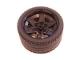 Part No: 15038c04  Name: Wheel 56mm D. x 34mm Technic Racing Medium, 6 Pin Holes with Black Tire 68.8 x 36 ZR (15038 / 44771)