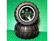 Part No: 15038pb01c01  Name: Wheel 56mm D. x 34mm Technic Racing Medium, 6 Pin Holes with White Rim Edge Pattern with Black Tire 94.8 x 44 R Balloon (15038pb01 / 54120)