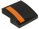 Part No: 15068pb042R  Name: Slope, Curved 2 x 2 with Orange Stripe on Right Edge on Black Background Pattern (Sticker) - Set 75102