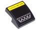 Part No: 15068pb055  Name: Slope, Curved 2 x 2 with 'CORVETTE' and Four Exhaust Pipes Pattern (Sticker) - Set 75870
