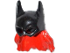 Part No: 15553pb01  Name: Minifigure, Headgear Mask Batgirl with Red Hair Pattern