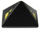Part No: 15571pb01  Name: Slope 45 2 x 1 Triple with Bottom Stud Holder with Triangular Yellow Eyes Pattern