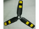 Part No: 15790pb02  Name: Propeller 3 Blade 9 Diameter with Center Recessed with Yellow Stripes Pattern (Stickers) - Set 60103