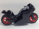 Part No: 18895c07  Name: Motorcycle Sport Bike with Black Frame, Red Wheels and Dark Bluish Gray Handlebars