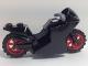 Part No: 18895c07  Name: Motorcycle Sport Bike with Black Frame, Red Wheels and Dark Bluish Gray Handlebars