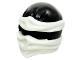 Part No: 19857pb03  Name: Minifigure, Headgear Ninjago Wrap Type 2 with White Wraps and Knot Pattern