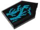 Part No: 22385pb193  Name: Tile, Modified 2 x 3 Pentagonal with Dark Azure Seaweed Pattern (Sticker) - Set 70433
