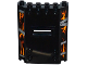 Part No: 22387pb001  Name: Panel 2 x 6 x 6 with Window Slot with Silver Metal Strips over Bright Light Orange and Orange Cracks Pattern (Stickers) - Set 70316