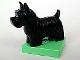 Part No: 2299c03pb01  Name: Duplo Dog Scottish Terrier (Scottie) on Medium Green Base