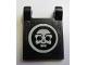 Part No: 2335pb076  Name: Flag 2 x 2 Square with White Skull inside Circle Pattern (Sticker) - Set 4195