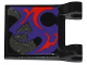 Part No: 2335pb122  Name: Flag 2 x 2 Square with Dark Purple, Pearl Dark Gray and Red Swirls Pattern on Both Sides Top (Stickers) - Set 70728